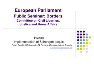 Poland  implementation of Schengen acquis