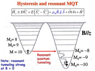 Hysteresis and resonant MQT