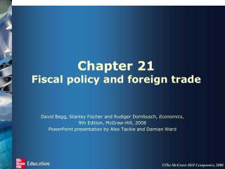 Chapter 21 Fiscal policy and foreign trade