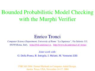 Bounded Probabilistic Model Checking with the Murphi Verifier
