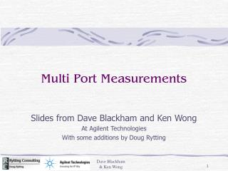 Multi Port Measurements