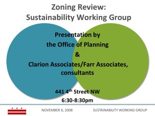 Zoning Review:  Sustainability Working Group