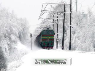 Met de trein mee!!