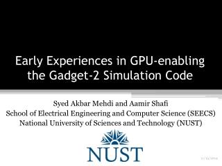 Early Experiences in GPU-enabling the Gadget-2 Simulation Code