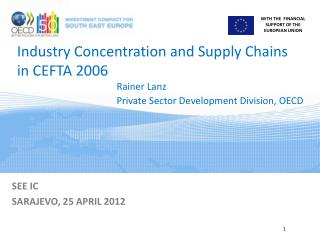 Industry Concentration and Supply Chains in CEFTA 2006