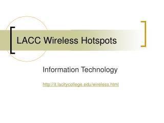 LACC Wireless Hotspots