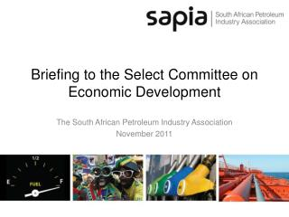 Briefing to the Select Committee on Economic Development