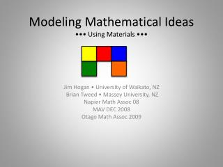 Modeling Mathematical Ideas ••• Using Materials •••