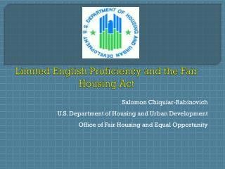 Limited English Proficiency and the Fair Housing Act