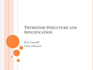 Thyristor Structure and Specification