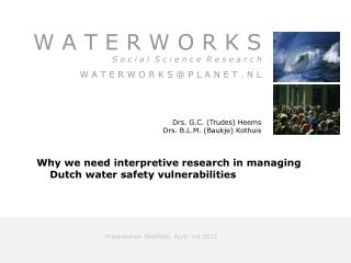 Presentation Sheffield, April  1st 2011