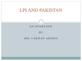 LPI AND PAKISTAN