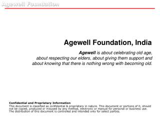 Agewell Foundation, India