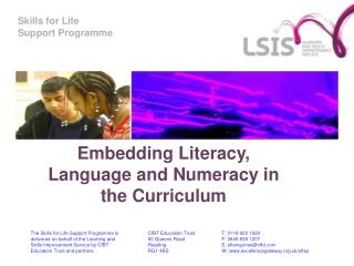 Embedding Literacy, Language and Numeracy in the Curriculum