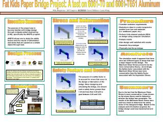 Fat Kids Paper Bridge Project: A test on 6061-T0 and 6061-T651 Aluminum