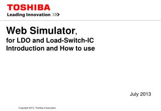 Web Simulator ,  for LDO and Load-Switch-IC  Introduction and How to use
