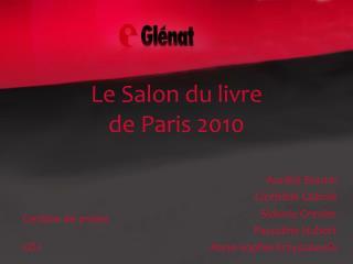 Le Salon du livre de Paris 2010