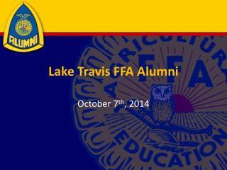 Lake Travis FFA Alumni