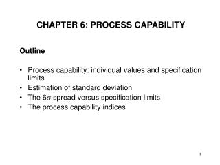 CHAPTER 6: PROCESS CAPABILITY