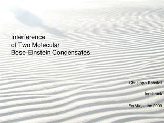 Interference  of Two Molecular  Bose-Einstein Condensates