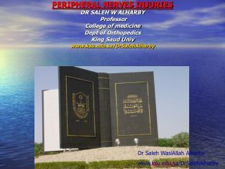Dr Saleh WaslAllah Alharby ksu.sa/DrSalehAlharby