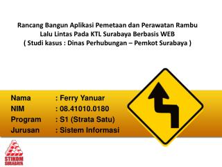 Nama		:  Ferry Yanuar NIM		: 0 8 .41010.018 0 Program	: S1 (Strata Satu)