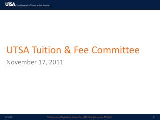 UTSA Tuition & Fee Committee