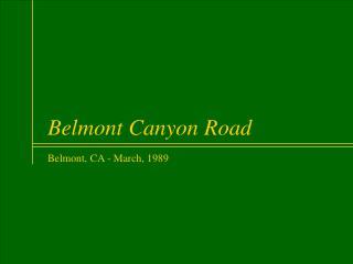 Belmont Canyon Road