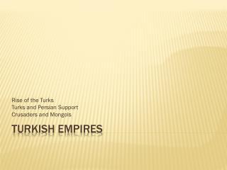 Turkish Empires