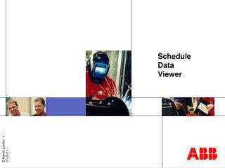 Schedule Data Viewer