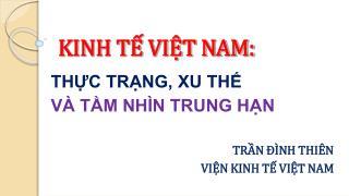 KINH TẾ VIỆT NAM: