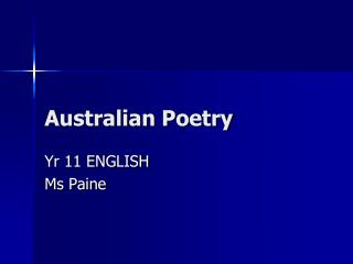 Australian Poetry