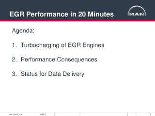 EGR Performance in 20 Minutes