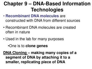 Chapter 9 – DNA-Based Information Technologies