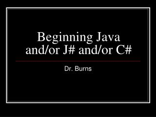 Beginning Java and/or J# and/or C#