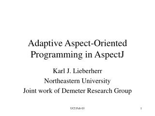 Adaptive Aspect-Oriented Programming in AspectJ