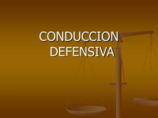 CONDUCCION DEFENSIVA