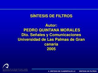 6. SÍNTESIS DE CUADRIPOLOS LC