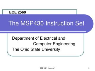 The MSP430 Instruction Set