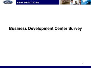 Business Development Center Survey