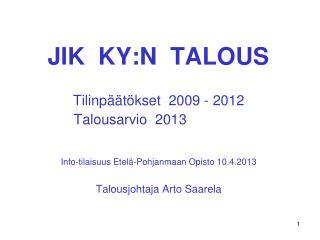 JIK  KY:N  TALOUS