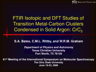 FTIR Isotopic and DFT Studies of Transition Metal-Carbon Clusters Condensed in Solid Argon: CrC 3