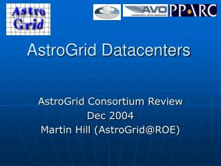 AstroGrid Datacenters