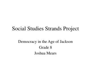 Social Studies Strands Project