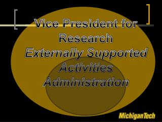 Vice President for Research  Externally Supported Activities Administration
