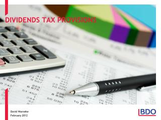 DIVIDENDS TAX PROVISIONS