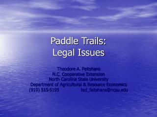 Paddle Trails: Legal Issues