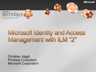 Microsoft Identity and Access Management with ILM