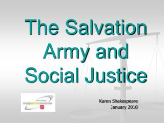 The Salvation Army and Social Justice