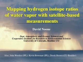 Mapping hydrogen isotope ratios of water vapor with satellite-based measurements